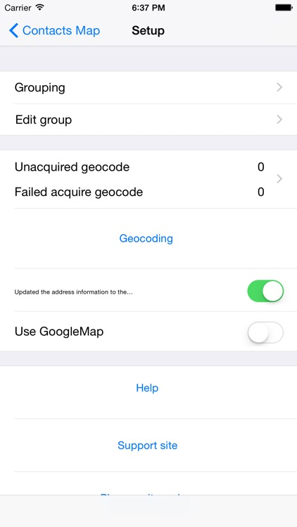 Contacts-Map