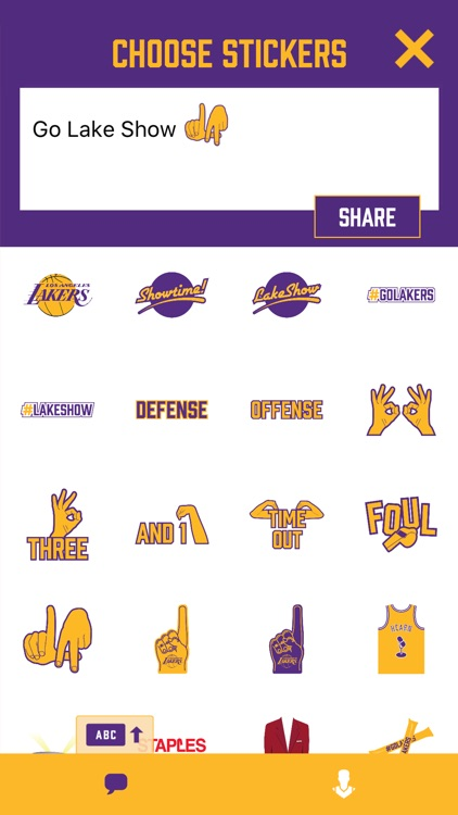 Showtime! Stickers by the Los Angeles Lakers