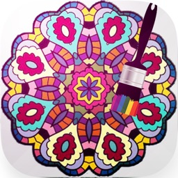 Mandala Coloring Book - Draw Paint Doodle Sketch tool & Coloring book for adults and kids