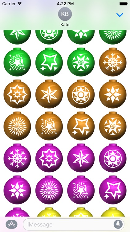 Xmas Balls Stickers screenshot-2