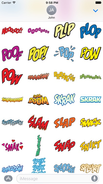 Comic Stickers Pack