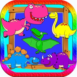 Dino Color Blind Test or Matching For Little Kids by Chatchai