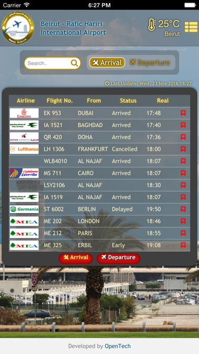 Screenshot for Beirut Airport - Official App in Lebanon App Store