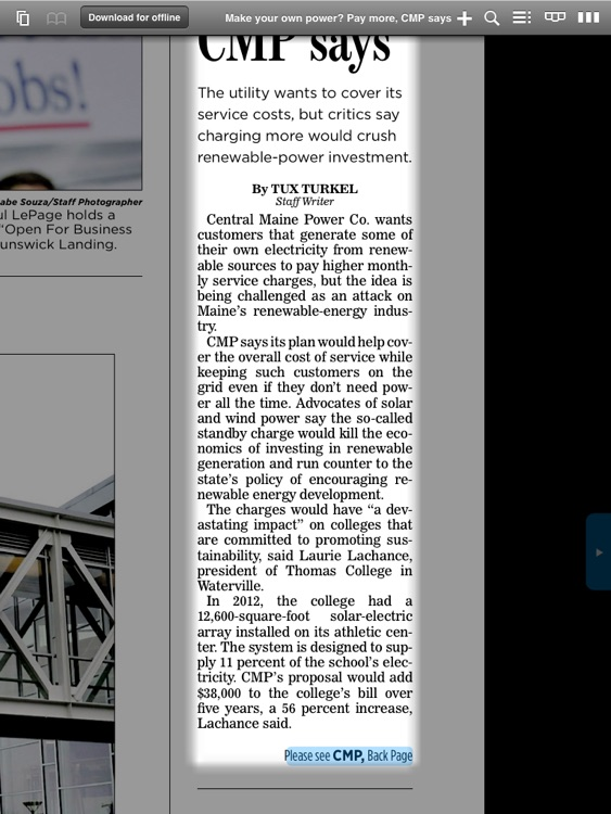 Portland Press Herald e-Edition screenshot-3