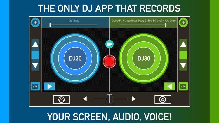 DJ30 - Record Screen, Music, & Voice