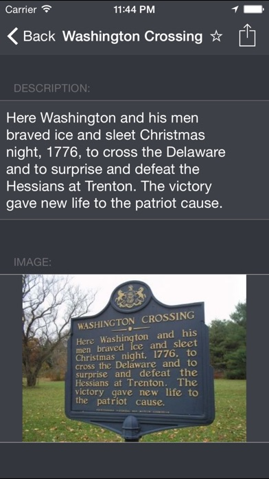 Historical Markers review screenshots