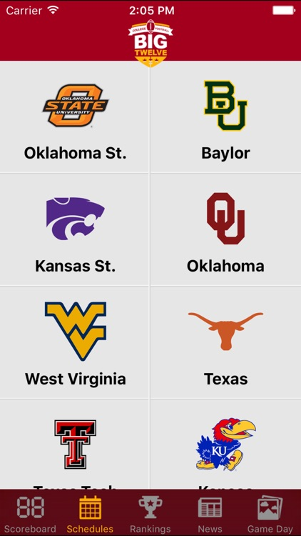 Big 12 Football Schedules & Scores screenshot-4