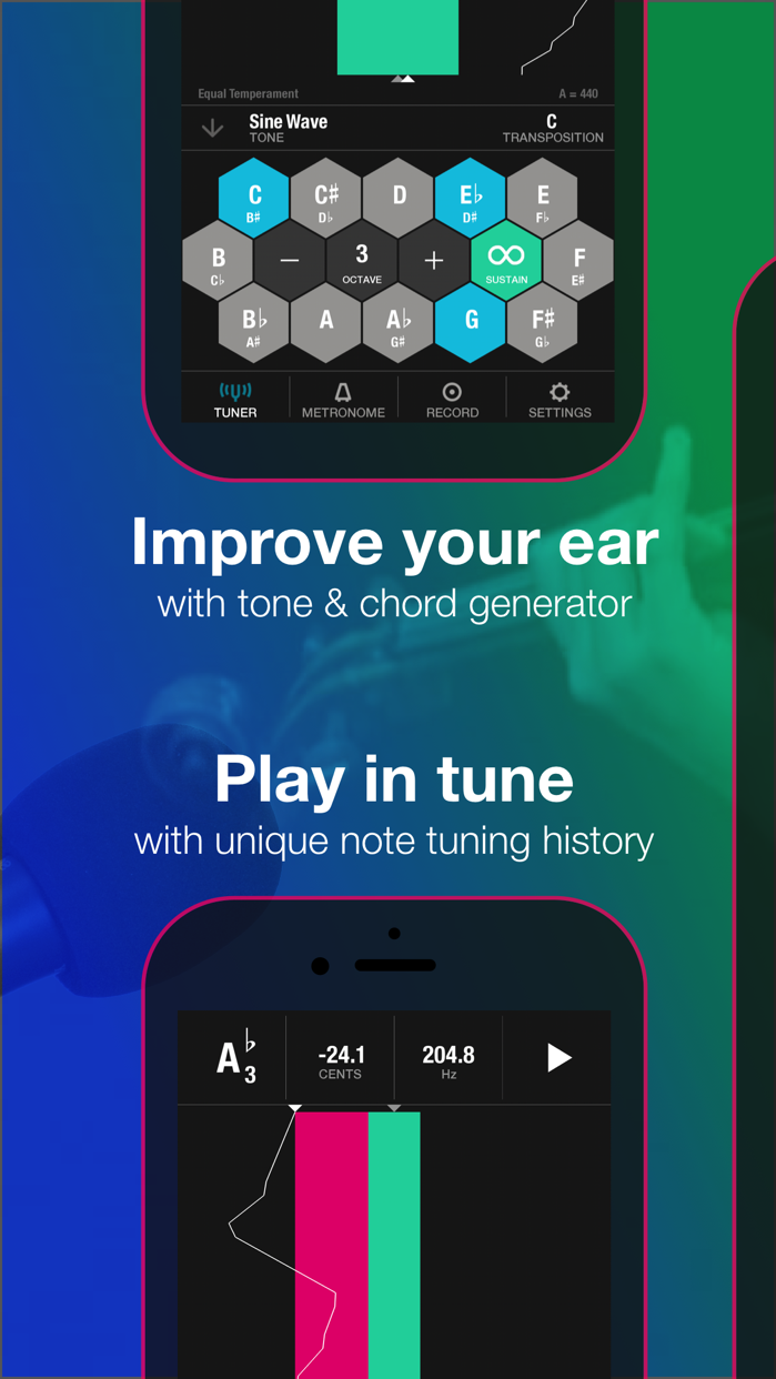 Tunable - Tuner & Metronome Screenshot
