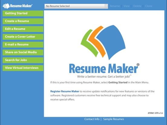 Screenshot 1 For Resume MakerR Platinum