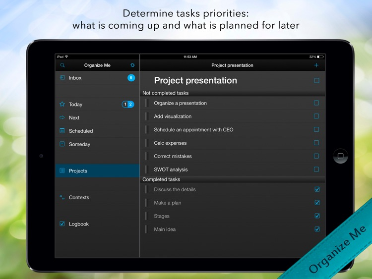 Organize Me for iPad