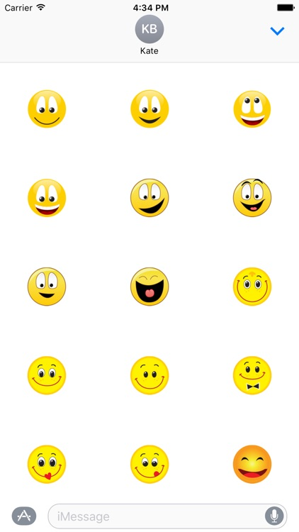 "Happy Smilies ""Big Smile Stickers"" for iMessage screenshot-3"