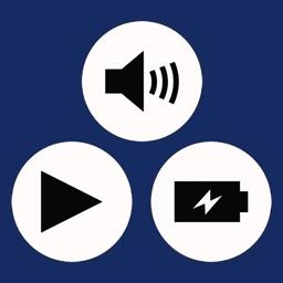 Volume / Playback / Battery