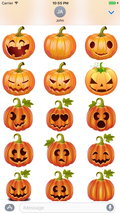 Pumpkin Halloween Emoji Sticker #6