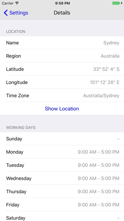 TimeTape - Visual Time Zone Converter screenshot-3