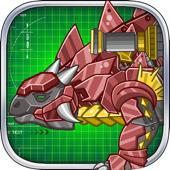 Steel Dino Toy:Mechanic Ankylosaurus-2 player game