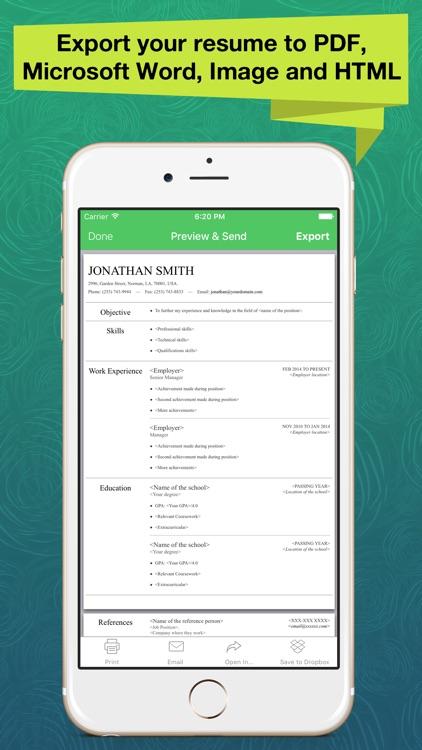 Resume Apex Pro – Professional CV Maker & Builder screenshot-3