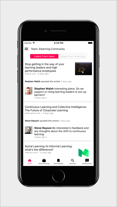 Anders Pink: Discover, Learn, Curate, Collaborate screenshot one