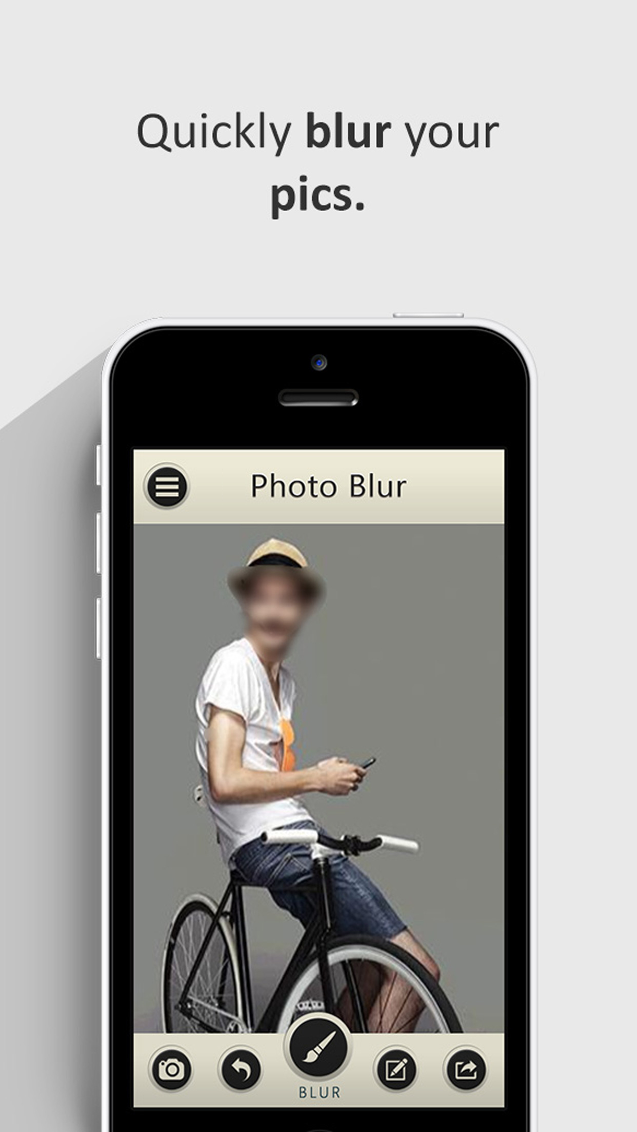 Photo Blur Wallpaper Booth App Screenshot