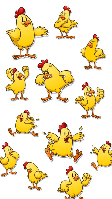 Cute Chicken Expressions Stickers