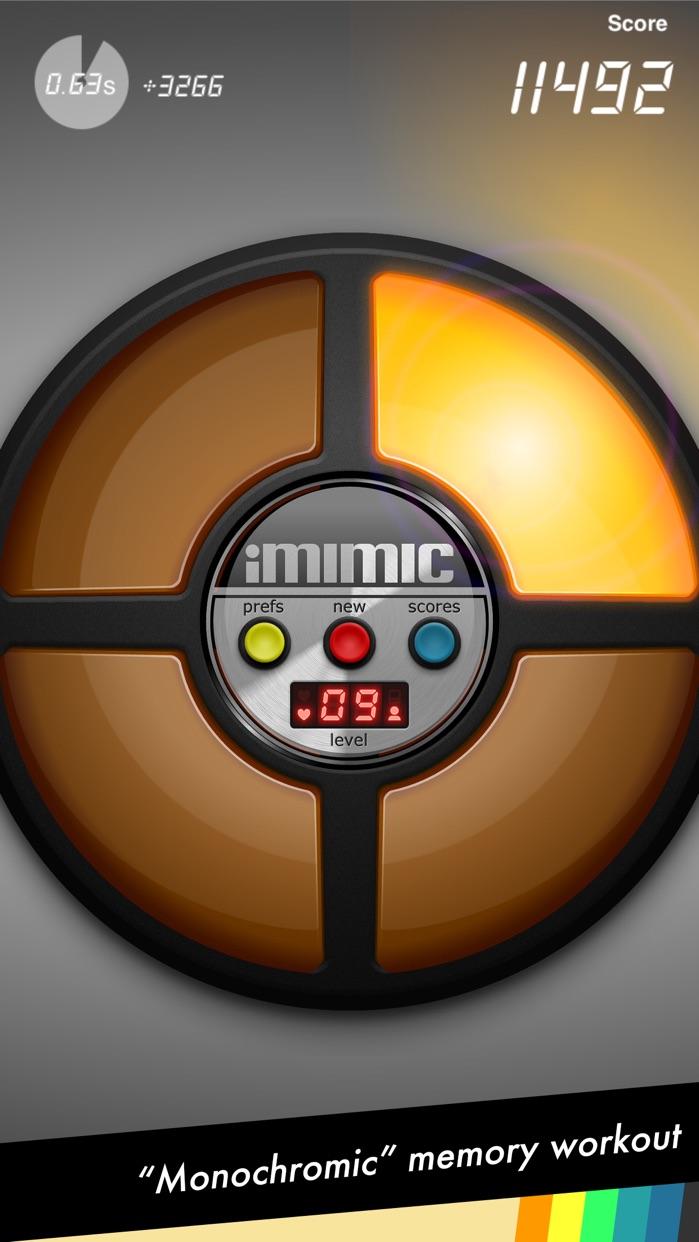iMimic: 80's Vintage Electronic Memory Game Screenshot