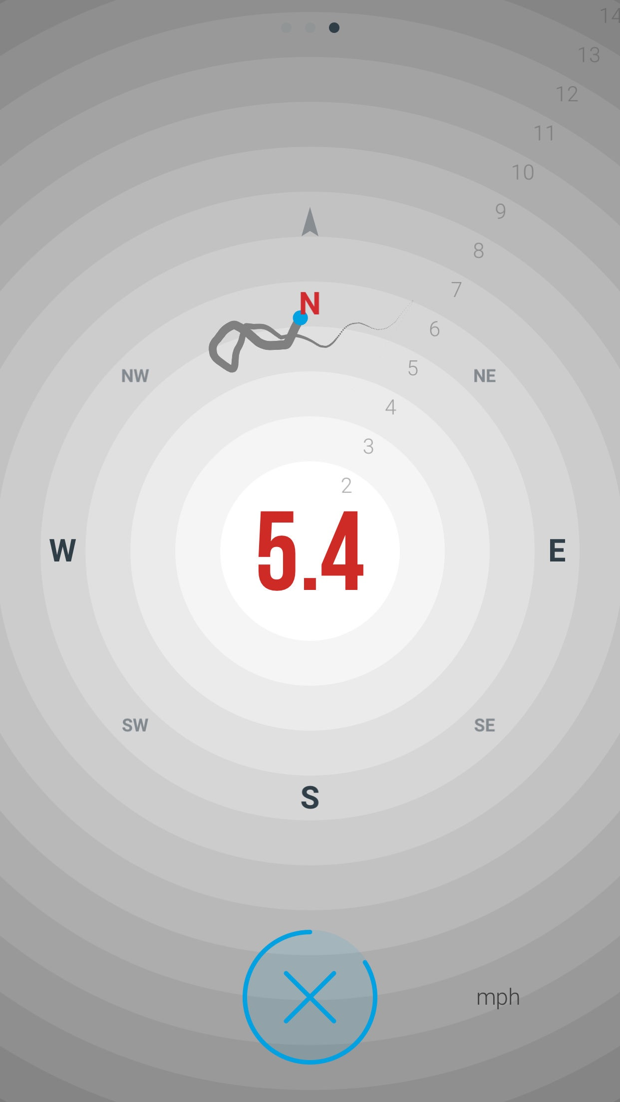 Vaavud Wind Meter Screenshot