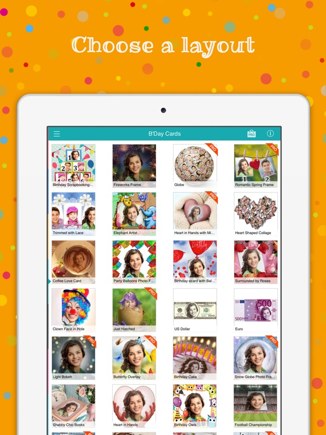 Birthday Cards Free Happy Photo Frame Gift Invitation Maker On The App Store