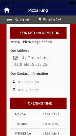 Pizza King Hadfield On The App Store