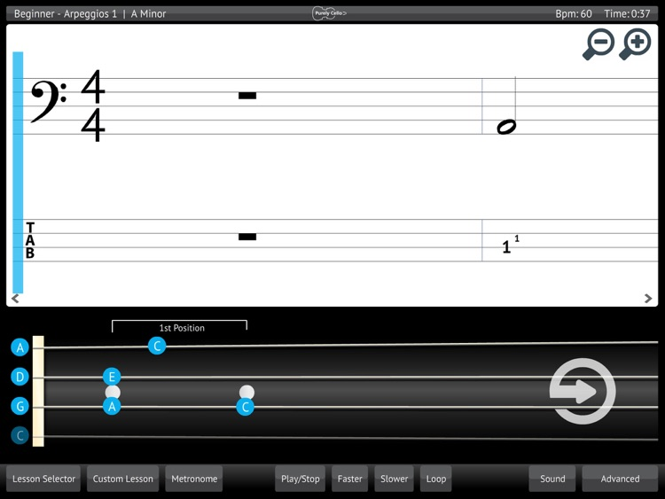 Learn & Practice Cello Music Lessons Exercises