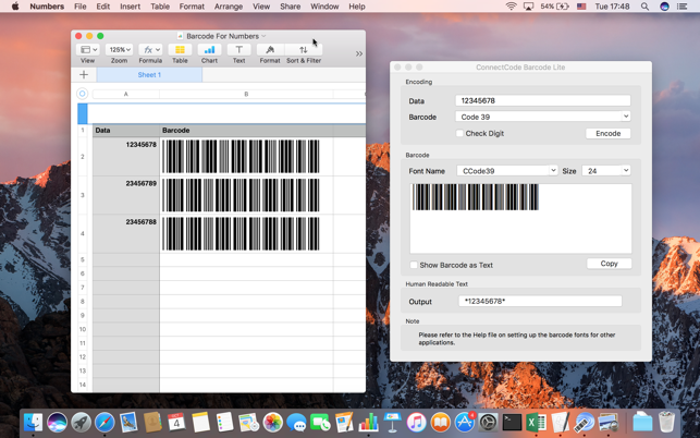 ConnectCode Barcode Lite on the Mac App Store