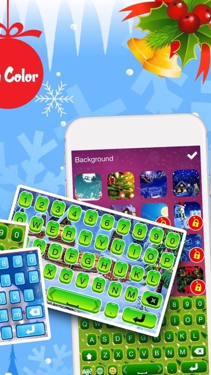 Christmas Emoji Keyboard Themes & Custom Keyboards screenshot-3
