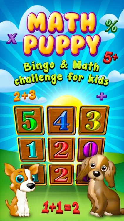 Math Puppy – Bingo Challenge for Kids