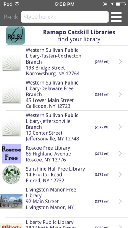 Ramapo Catskill Library System Mobile screenshot-0