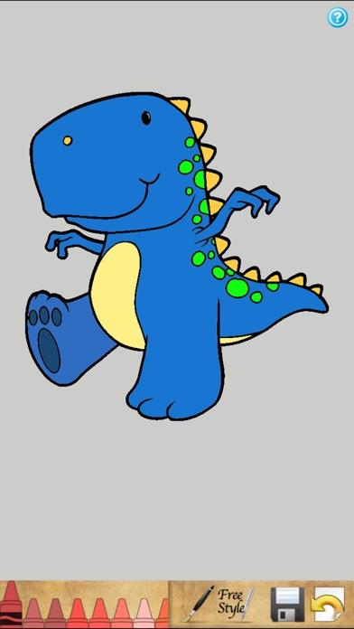 恐竜のぬりえの本!スクリーンショット1