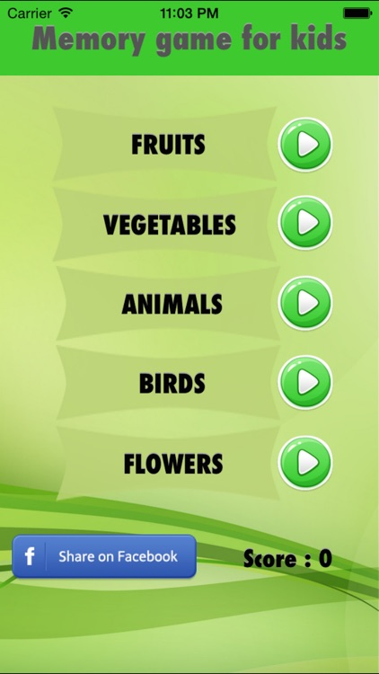 Memory Game for kids - Fun to learn animals,vegetables,fruits,flowers,shapes screenshot-4
