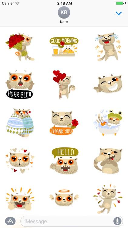 Cat Cute - Fc Sticker screenshot-3