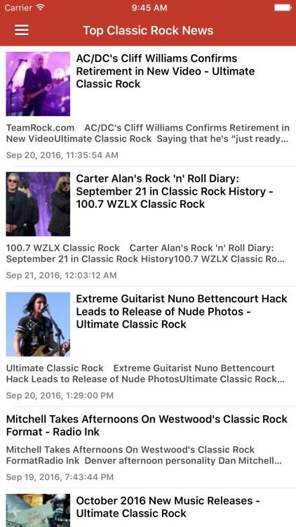 Classic Rock Free - Songs, Radio & News screenshot-4