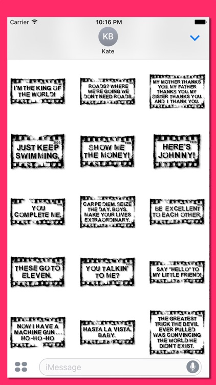 Rubber Stamp It - Movie Quotes screenshot-3