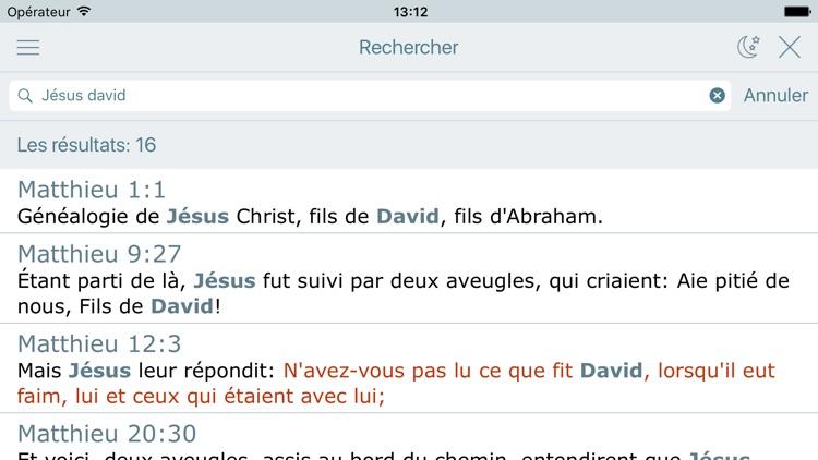 La Bible Offline Gratuite en Audio - Louis Segond screenshot-3
