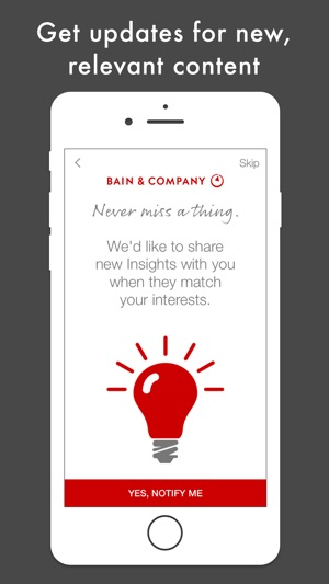 Bain Insights on the App Store