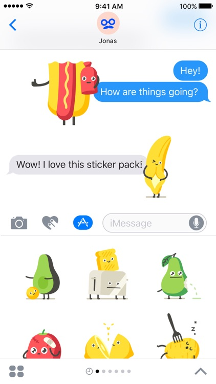 Moody Foodies – Animated Stickers screenshot-4