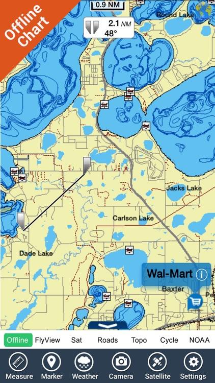 Lakes Texas GPS fishing charts