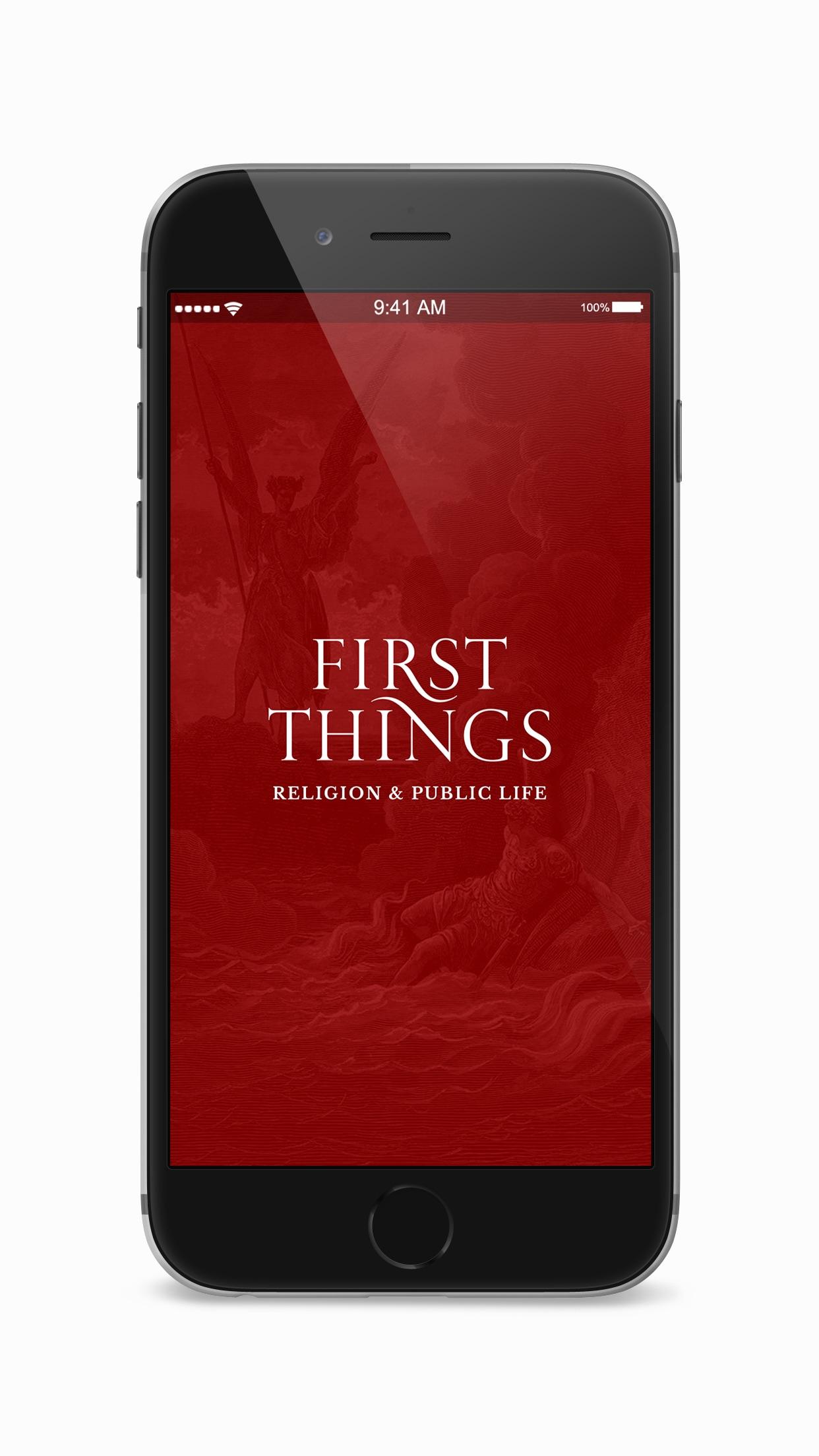 First Things Screenshot