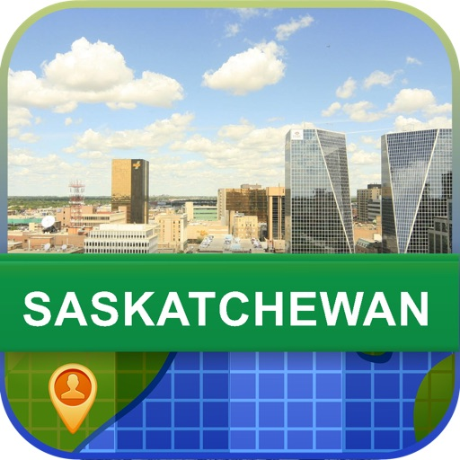Saskatchewan, Canada Map - World Offline Maps