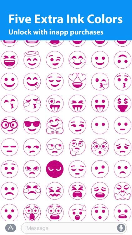 Emoji.Stamp - Ink Stamp Emoji Sticker for iMessage screenshot-4