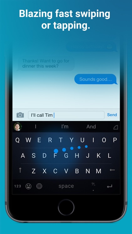 Word Flow Keyboard - GIF, swipe, custom theme screenshot-0