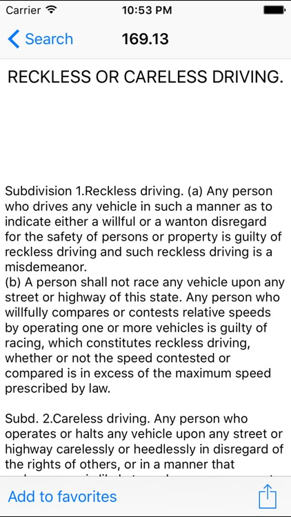 MNLaw -Motor Vehicle- Chapter 169/169A screenshot-3