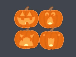 Just in time for Halloween, a set of Jack-o-Lantern styled emojis for all your Halloween related messages