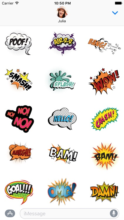 Poof! Comics Stickers for iMessage