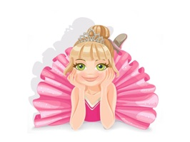 Add a super cute ballerina to your next conversation