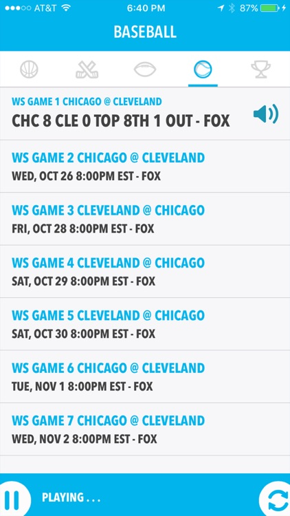 Baseball Live - World Series Edition